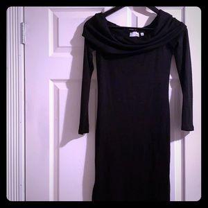Aritzia Wilfred Free little black dress,boat neck